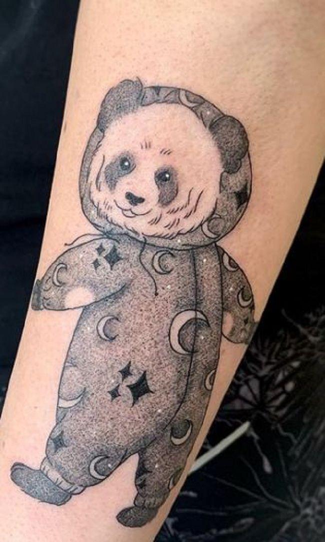 'Panda in pyjamas' Tattoo