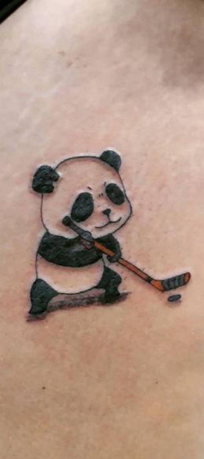 Panda playing Golf Tattoo