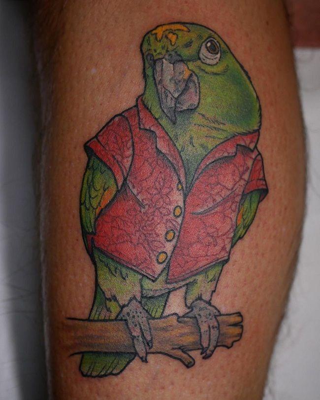 'Parrot wearing a Shirt' Tattoo