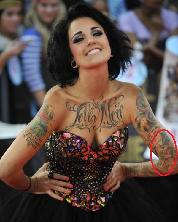 Phoebe Dykstra's Rabbit Tattoo on her left forearm