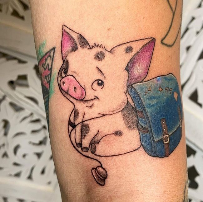 'Pig with a Bag' Tattoo