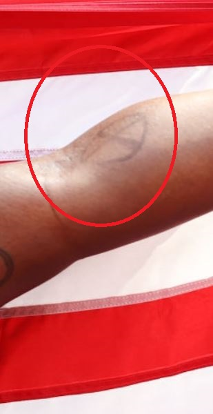 Raven left arm tattoo