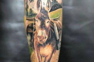 Realistic Donkey Tattoo