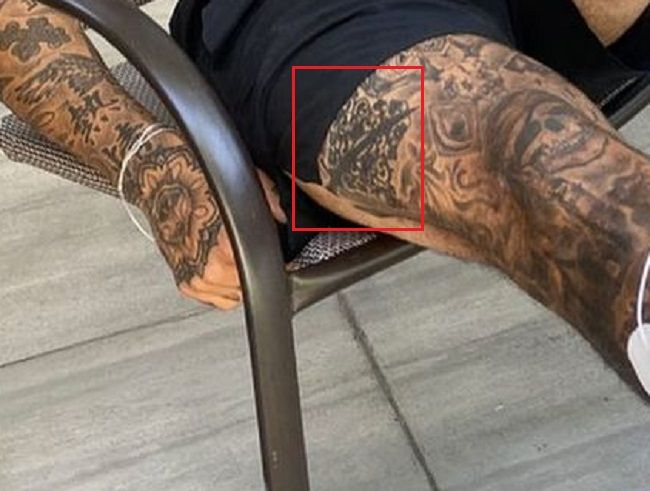 Right thigh of Nyjah Huston