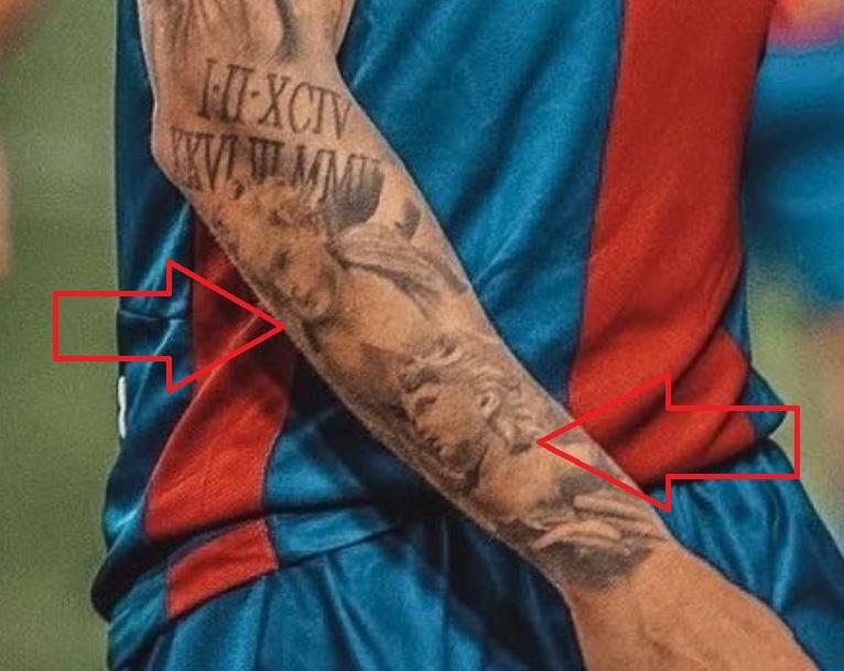 Roger right arm portraits tattoo
