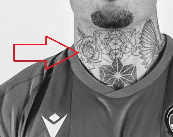 Roger rose on neck tattoo