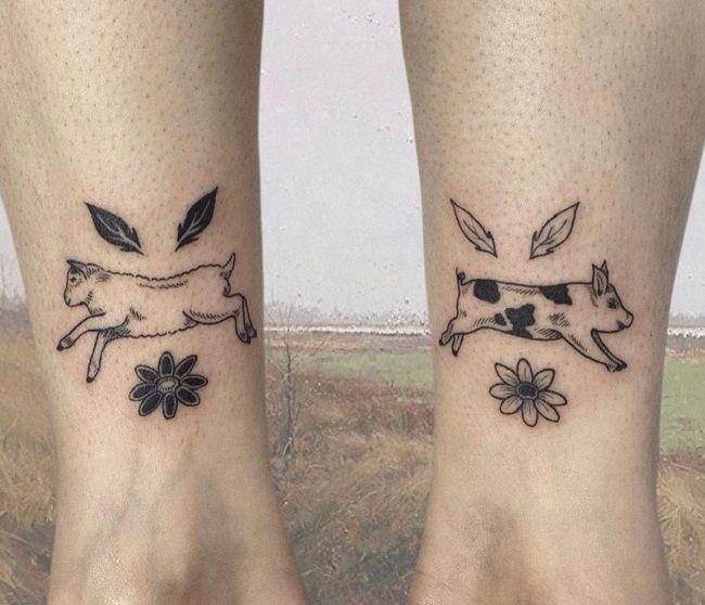 Sheep-Pig Tattoo