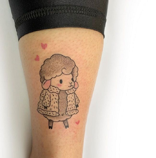 'Sheep wearing a Furry Coat' Tattoo