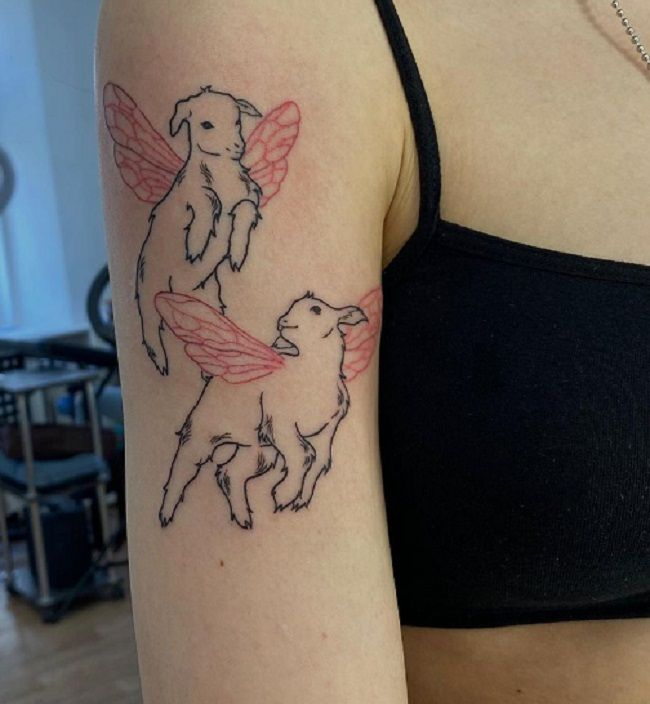 'Sheeps with the Wings' Tattoo