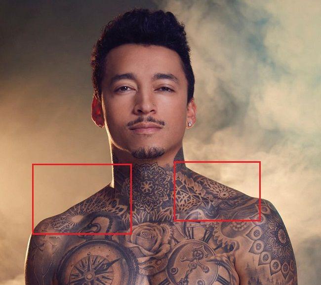 Shoulder tattoo-Nyjah Huston