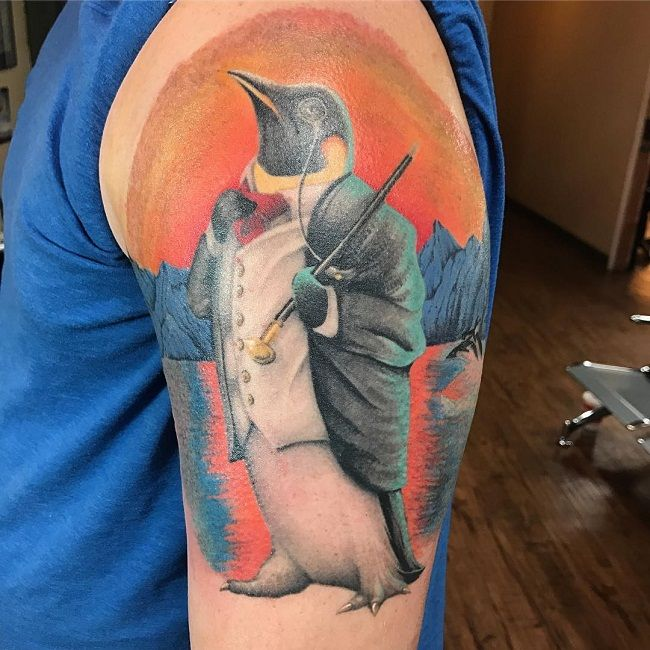 Snazzy Penguin Tattoo