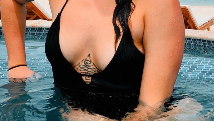 Stefanie chest tattoo