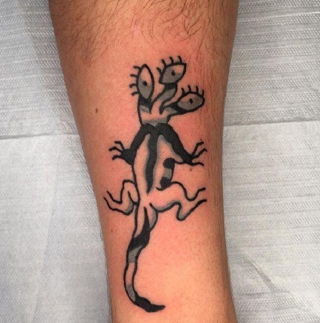 Three-Headed Lizard Tattoo