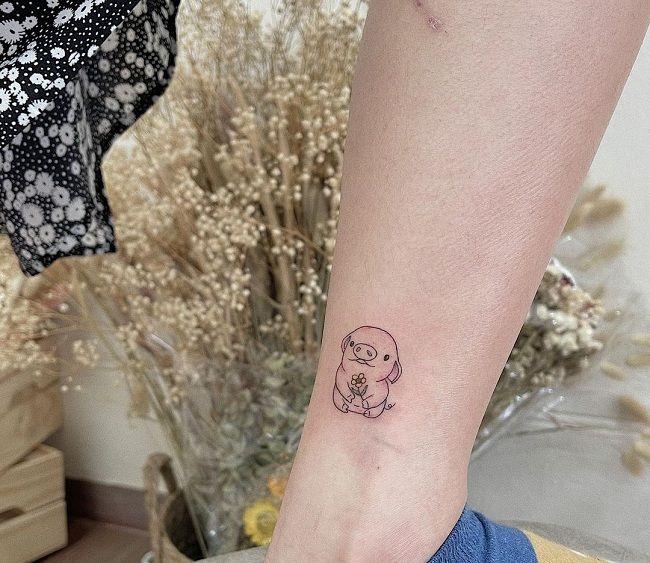 Tiny Pig Tattoo