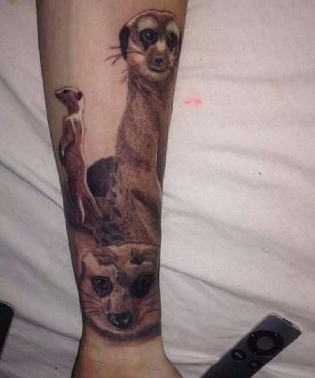 Trio Mongoose Tattoo