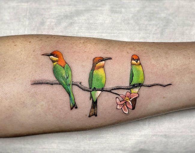 Trio Parrot Tattoo