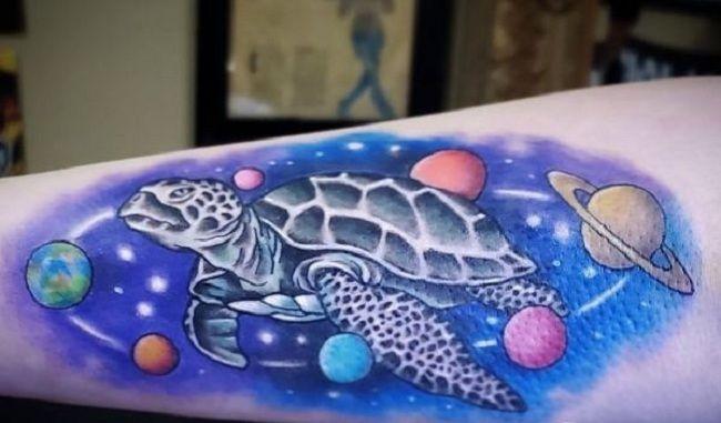 Turtle-Galaxy Tattoo