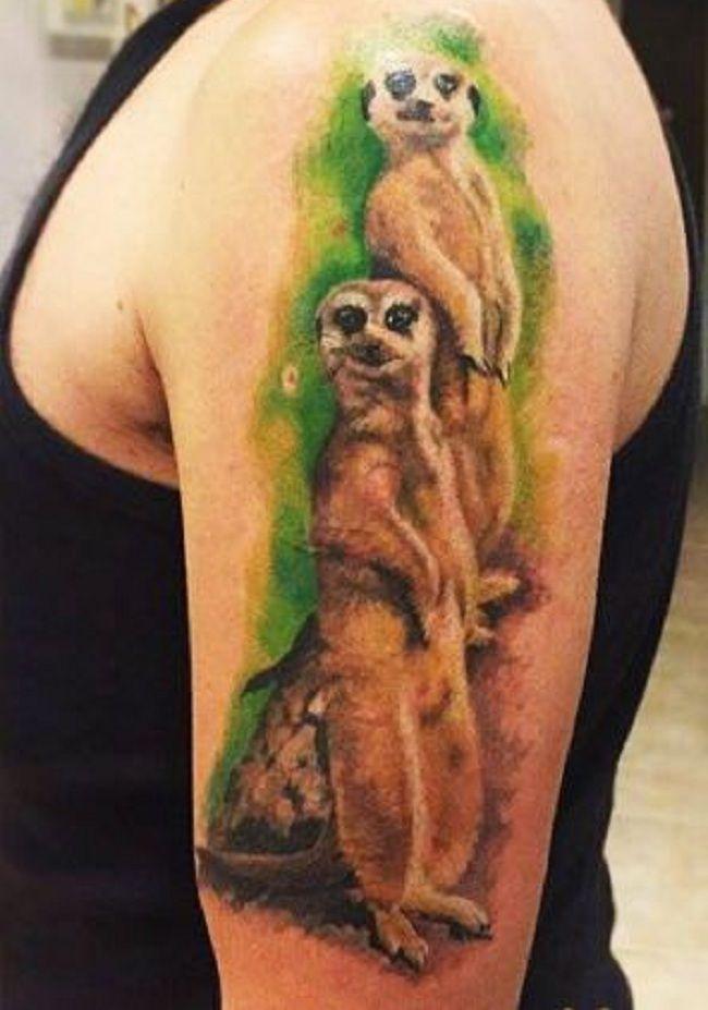 Twin Mongoose Tattoo