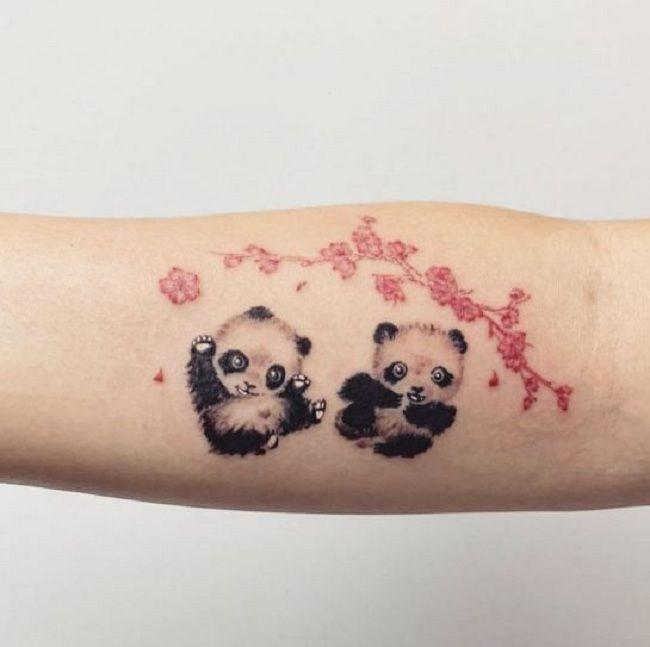 Twin Panda Tattoo