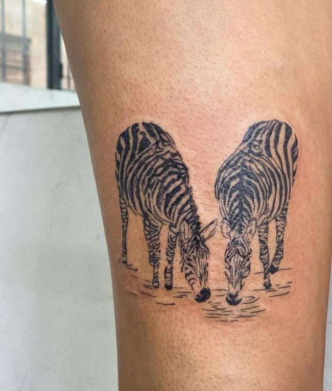 Twin Zebra Tattoo