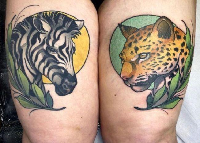 Zebra-Leopard Tattoo