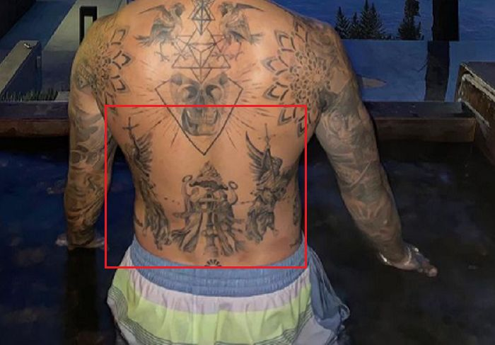 back tattoo Nyjah Huston
