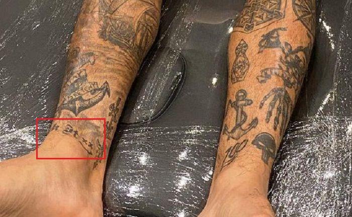 right ankle tattoo-nyjah huston