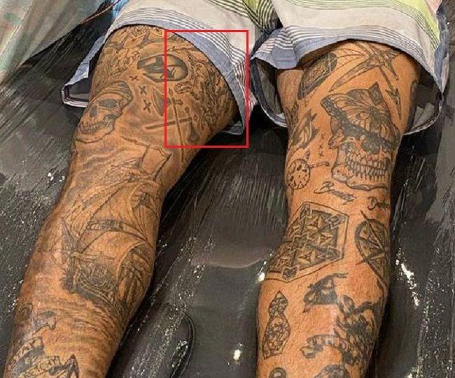 right leg tattoo Nyjah Huston
