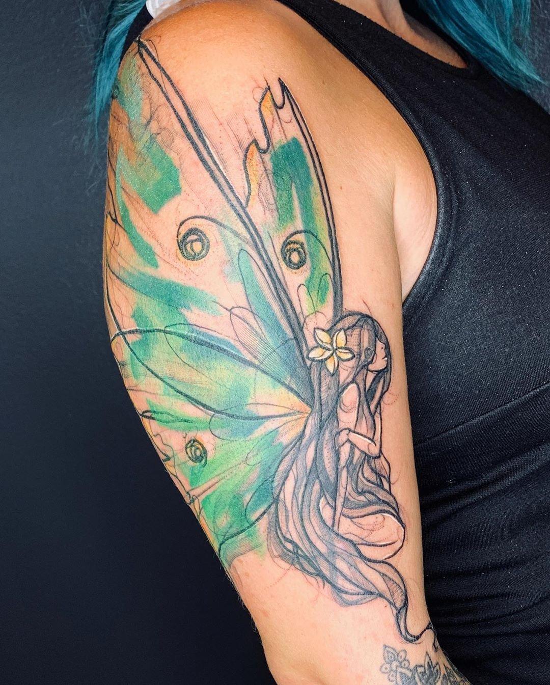 11 Sketchy Lunar Moth Fairy Tattoo Art