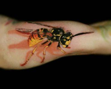 3-D Wasp Tattoo