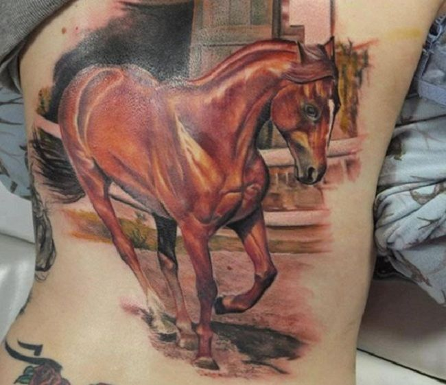 3D Horse Tattoo
