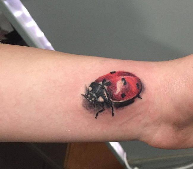 3D Ladybird Tattoo
