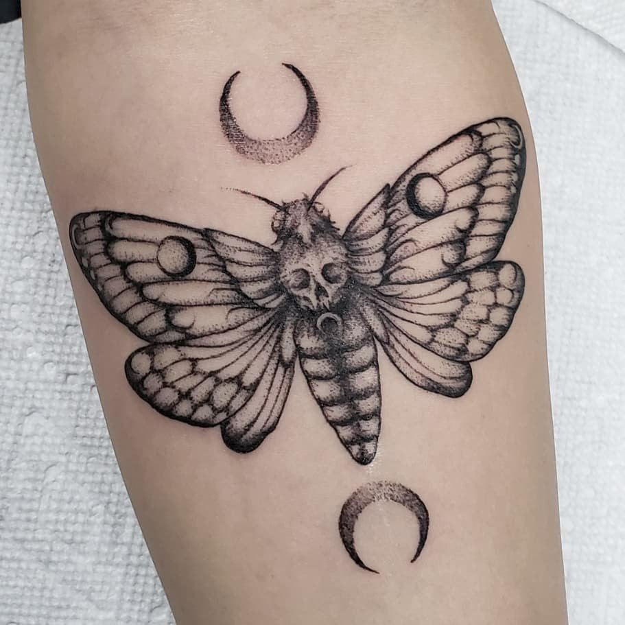 6 Butterflies insect moth tattoos