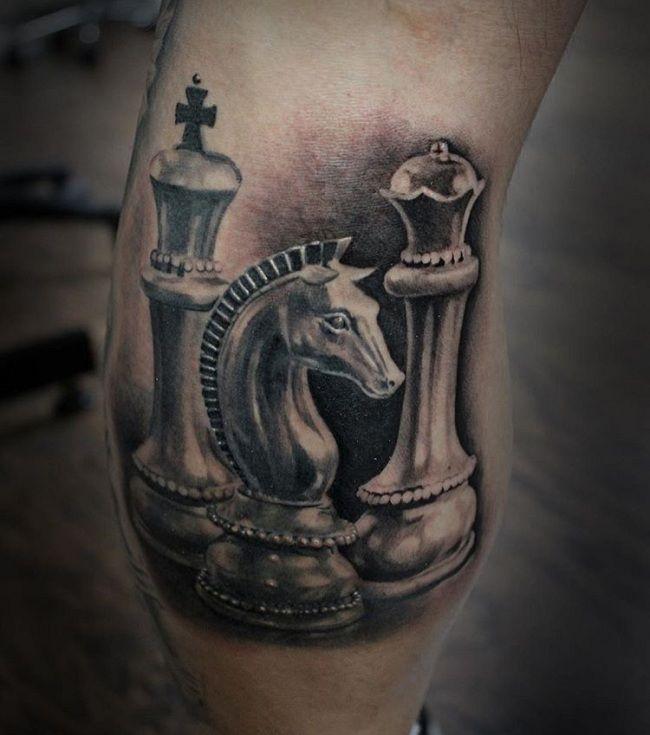 A Knight (Chess) Horse Tattoo