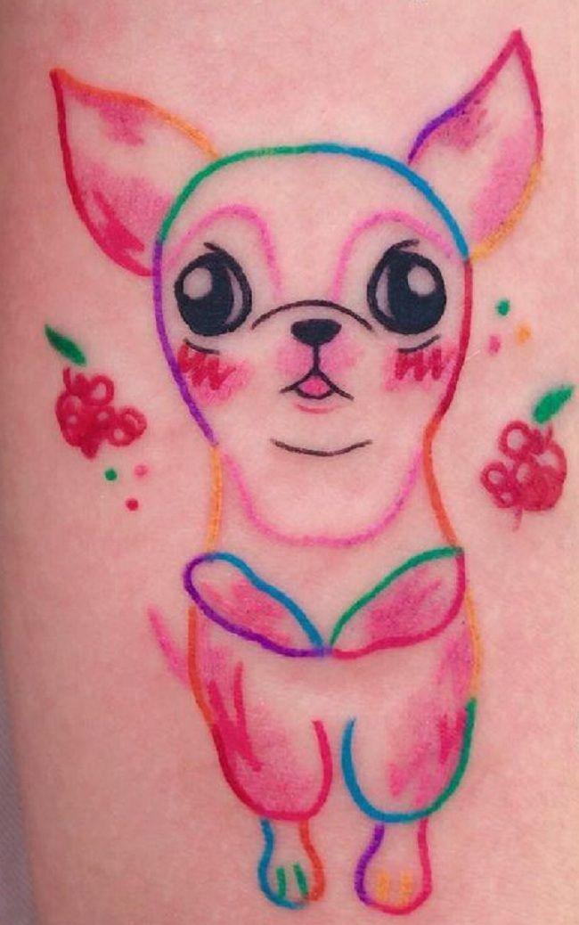 Animated Chihuahua Tattoo