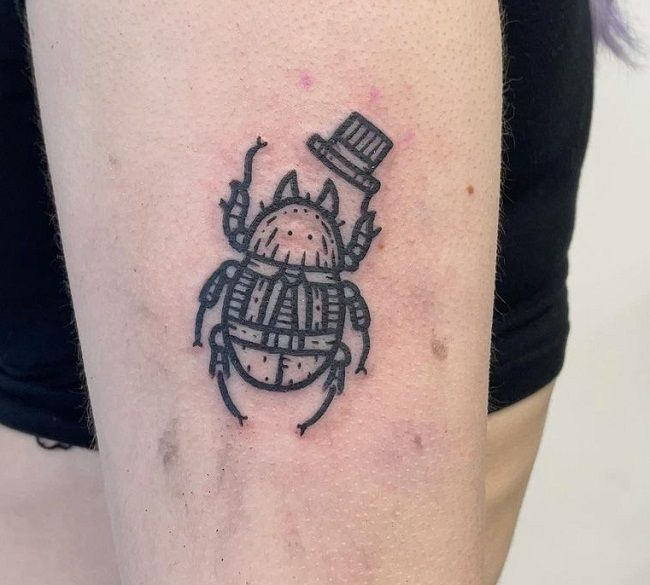 'Beetle with a Hat' Tattoo