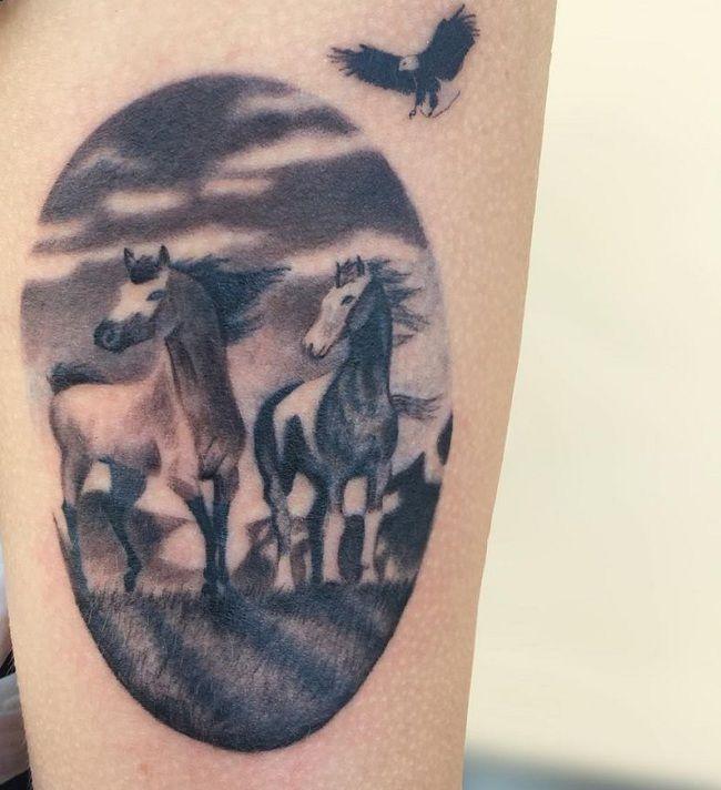 Bird-Horse Tattoo