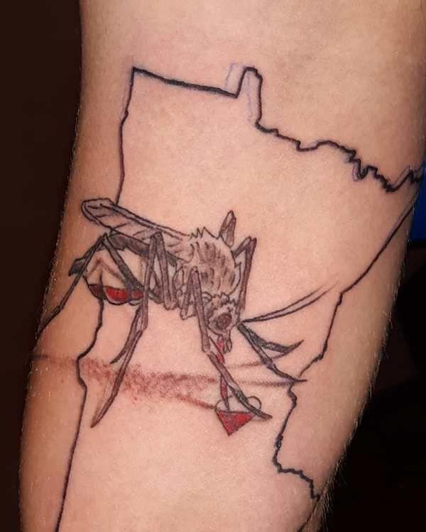 Blood-Sucker Mosquito Tattoo