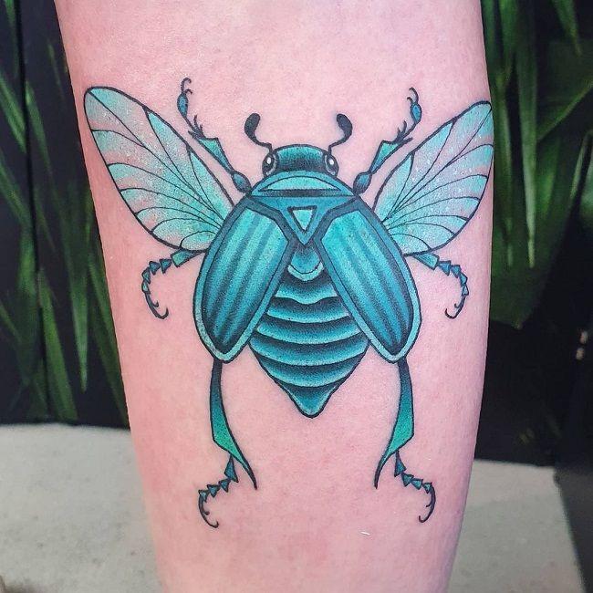Blue Beetle Tattoo