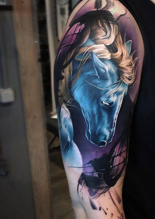 Blue Horse Tattoo