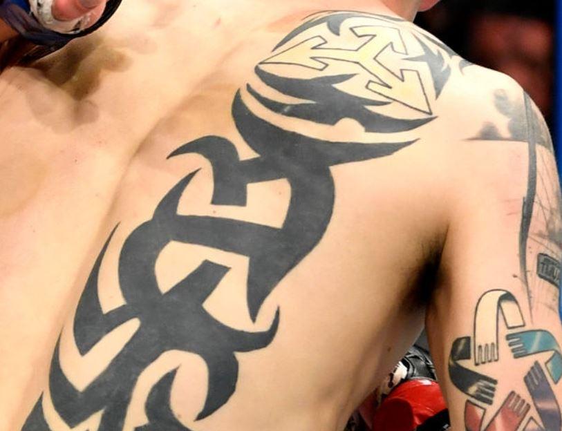 Brandon back tattoo