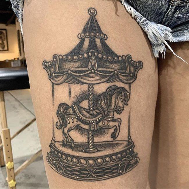 Carousel-Horse Tattoo