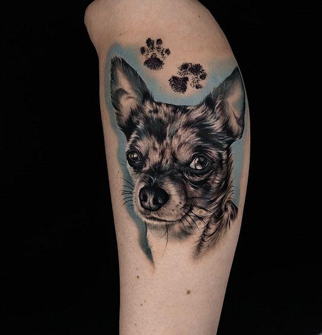 Chihuahua Paw Tattoo