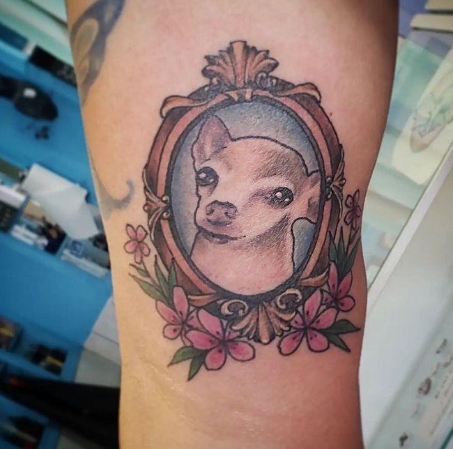 'Chihuahua with a Frame' Tattoo
