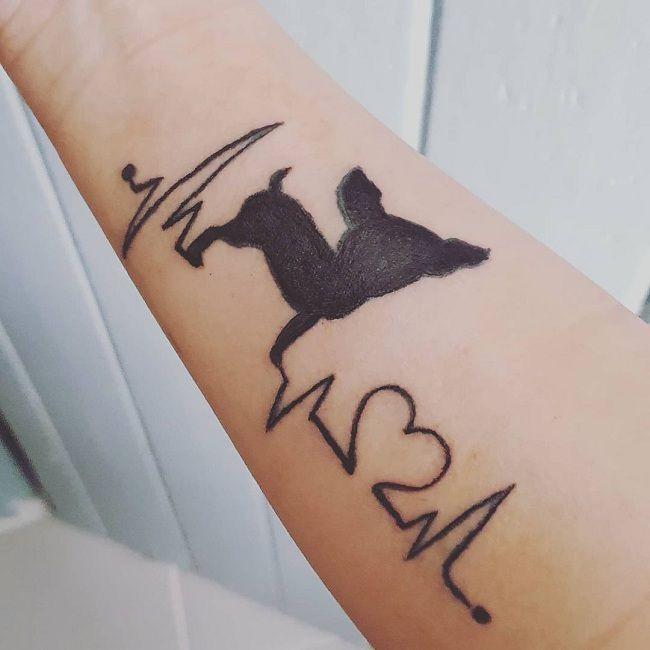 'Chihuahua with a Heartbeat' Tattoo