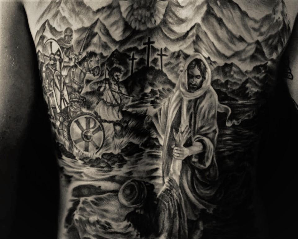 Cory back tattoo