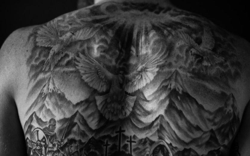 Cory dove birds tattoo