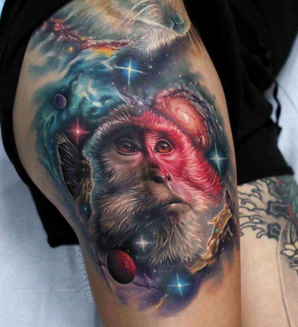 Cosmic Monkey Tattoo