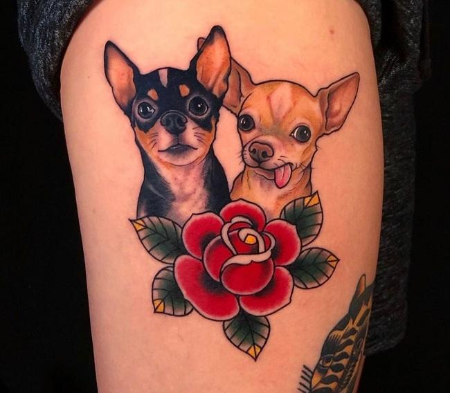 Couple Chihuahua Tattoo