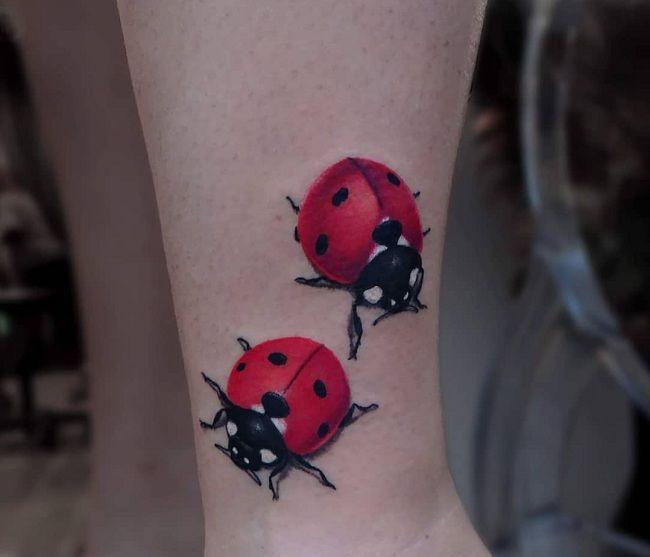 Couple Ladybird Tattoo
